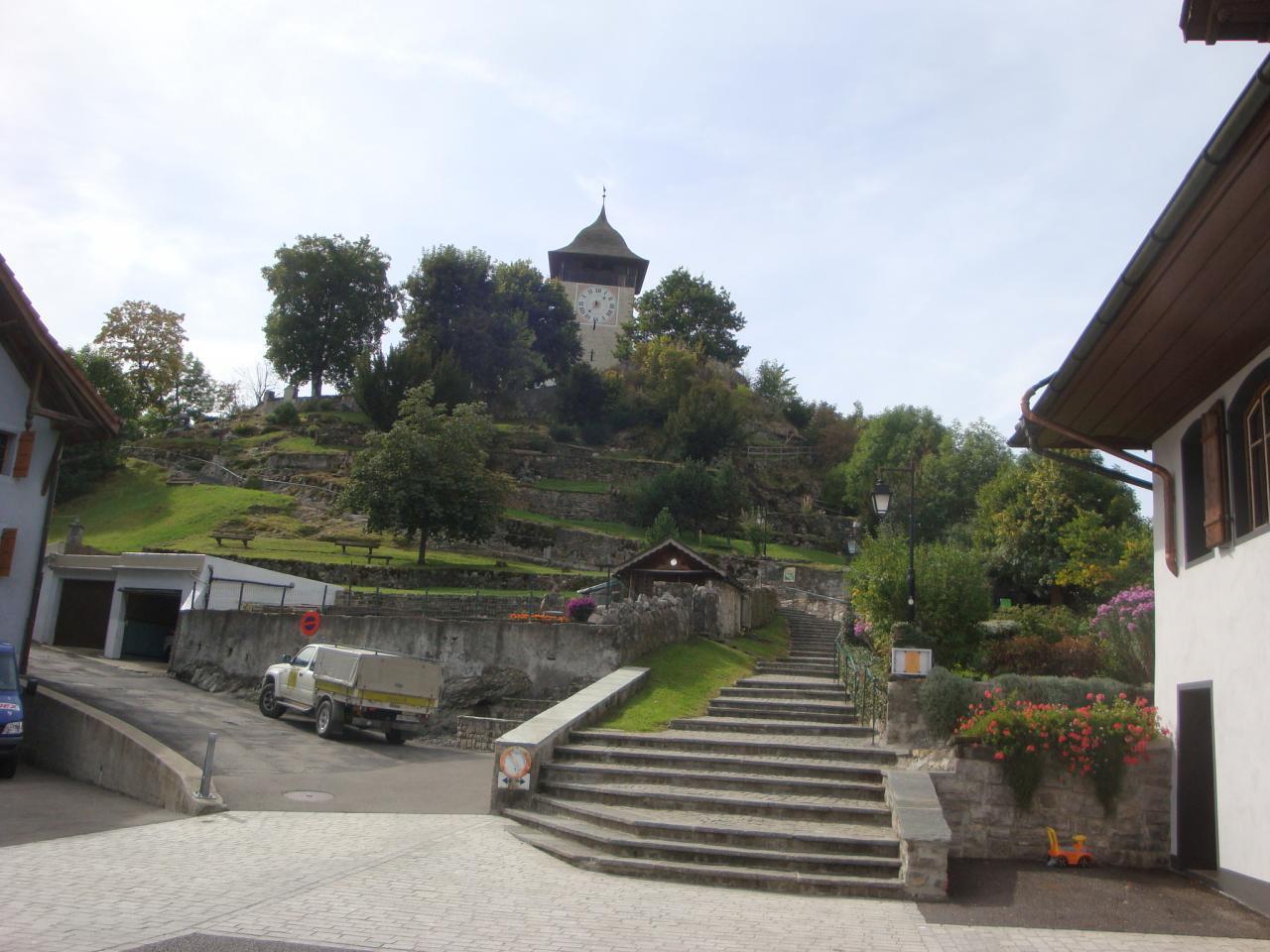 L'église de Chateau d'Oex, le refuge du footing ;-)